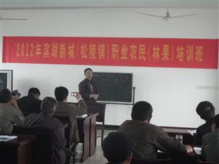 新湖村举办职业农民(林果)培训班
