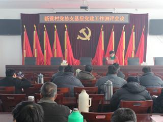 新营村召开2013年度村党组织党建工作专项测评会