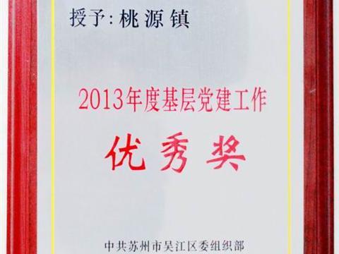"""桃源镇获""""2013年度基层党建工作优秀奖"""""""