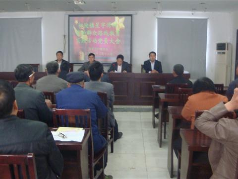 星字湾村群众路线党员大会