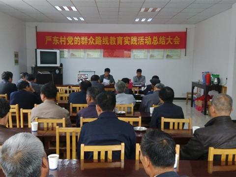 严东村召开党的群众路线教育实践活动总结大会