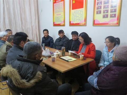 2015年3月,南厍村党员中心户活动邀请到太湖新城党员微故事宣讲团前来巡讲