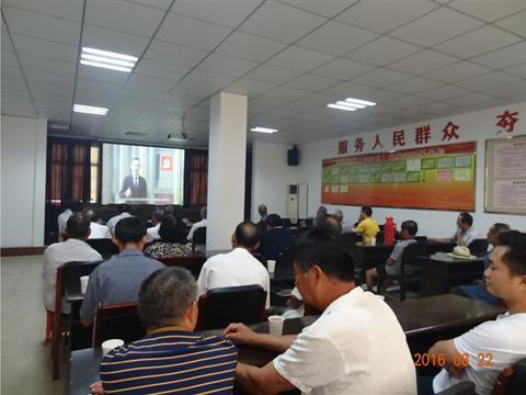 """姚家港村组织党员收看""""两学一做""""专题教育片"""