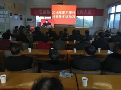 宅里桥村召开2016年党员干部冬训动员大会