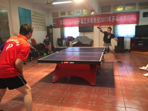 江新村组织乒乓球友谊赛