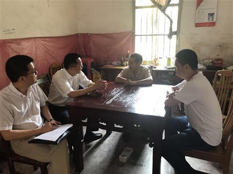 """吴江区副区长朱建文来我村开展""""四个融入""""大走访活动"""