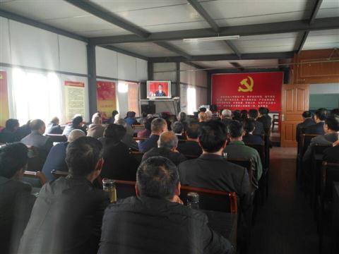 大船港村全体党员收看党的十九大开幕式