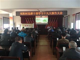 双阳村党群干部学习十九大报告大会
