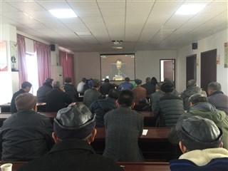 民益村组织党员收看2017-2018年度党员干部冬训动员大会