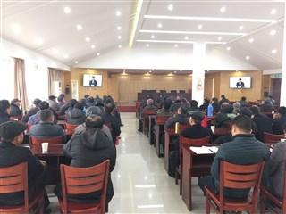 联团村组织党员干部参加2017~2018年度 冬训活动