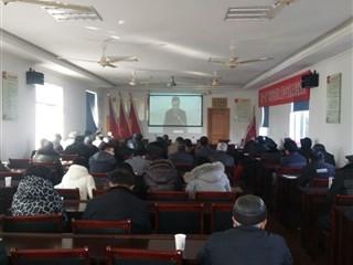 九里桥村组织党员收看冬训专题党课