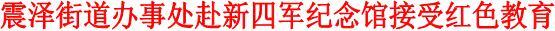 震泽街道办事处赴新四军纪念馆接受红色教育