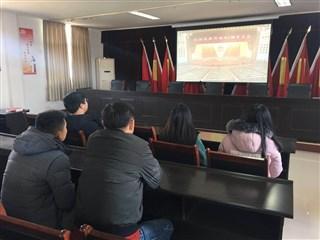 林港村组织收看庆祝改革开放40周年大会