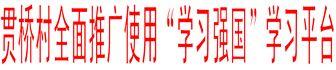 """贯桥村全面推广使用""""学习强国""""学习平台"""
